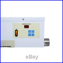 Electric Water Heater Swimming Pool Hot Tub Heater Thermostat Metal 5.5KW 220V