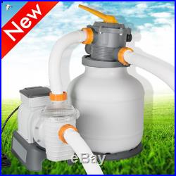FDA/CE Flowclear 58500E 2200GPH Above Ground Swimming Pool Sand Filter Pump 110V