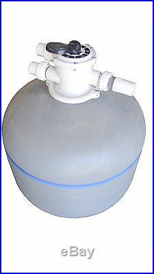 FibroPRO 32 inch 450 lbs Swimming Pool Sand Filter Top Valve fiberglass tank