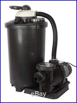 FlowXtreme 100 lbs Sand Filter System for AG Pools Pump 1HP and 5400GPH