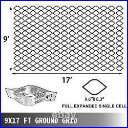 Geo Grid Ground Grid, Geo Cell Grid 9x17ft, Gravel Geo Grid 4 Inch High, Tensile