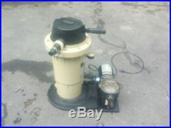 HAYWARD EC-30 D. E. Above Ground Swimming Pool Filter System 3/4HP PUMP
