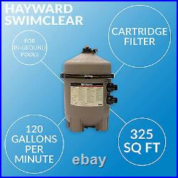 Hayward 325 SqFt SwimClear Outdoor Inground Cartridge Pool Filter (For Parts)