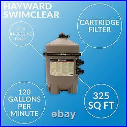 Hayward 325 Sq Ft SwimClear Outdoor Inground Cartridge Pool Filter (Open Box)