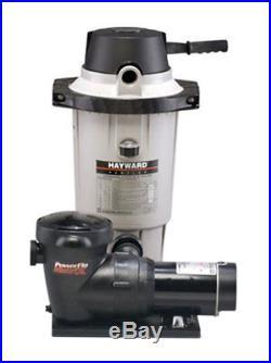 Hayward EC40 Aboveground Swimming Pool DE Filter with1 HP Pump System EC40C92S