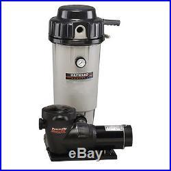 Hayward EC50 Swimming Pool DE Filter with1 HP Matrix SP1592 Pump System EC50C92S