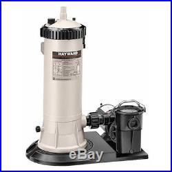 Hayward Easy Clear C-400 Pool Cartridge Filter System with 1hp PowerFlo Pump Motor