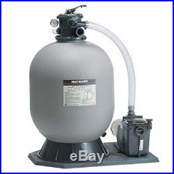 Hayward Pro-Series S220T Inground Swimming Pool Sand Filter with 3/4 HP Super Pump