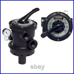 Hayward SP0714T Vari-Flo Control 1-1/2 FIP Valve Top Mount In-Line Sight Glass