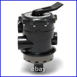 Hayward SP071621 Multiport Vari-Flo Control 2 FIP Valve Top Mount, Black