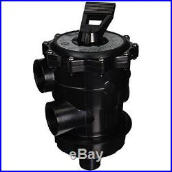Hayward SP071621 Pro Series Vari-flo Top-mount Control Valve Black 2 Inch FIP