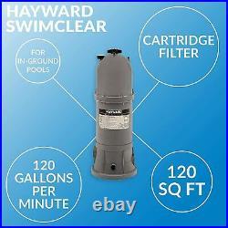 Hayward StarClear 120 Square Feet Inground Cartridge Pool Filter (Open Box)