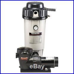 Hayward W3EC50C93S Perflex 1.5 HP D. E. Filter Pump Swimming Pool Complete System
