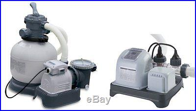 Intex 1600 gph krystal clear sand filter pool pump - Salt water pumps for swimming pools ...