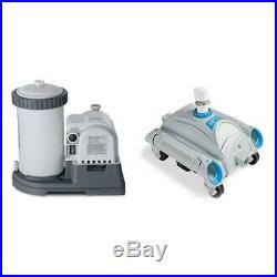INTEX 2500 GPH Filter Cartridge Pump and Above Ground Pool Vacuum Open Box