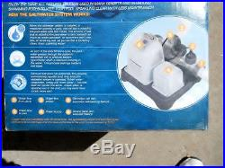 INTEX CRYSTAL CLEAR SALTWATER SYSTEM FOR ABOVE GROUND POOLS UP TO 15,000 GAL