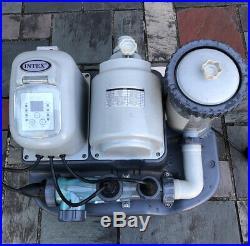INTEX Krystal Clear Pool Saltwater System & Filter Pump Model CS7111
