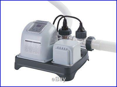INTEX Krystal Clear Saltwater System Pool Chlorinator with GFCI 54605EG