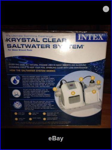 INTEX Krystal Clear Saltwater System for Above Ground Pools 54601EG