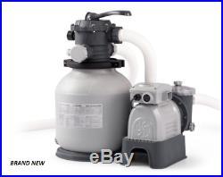 InTex 2100 Gph Krystal Clear Sand Filter Pump, 110-120V with GFCI, 28645EG NEW