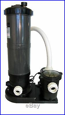 In-Ground Swimming Pool Cartridge Filter System with 2 Speed Pump 1 HP