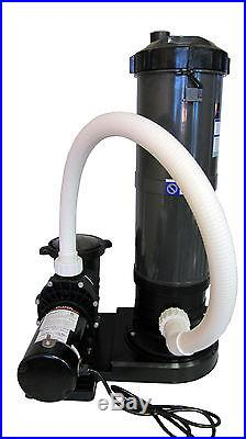 In Ground Swimming Pool Cartridge Filter System With 2 Speed Pump 1 Hp