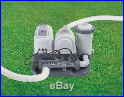Intex 120V Krystal Clear Saltwater System Pool Chlorinator & Filter Pump 28671EG