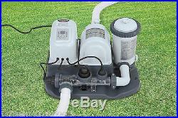 Intex-120V-Krystal-Clear-Saltwater-System-Pool-Chlorinator & Filter Pump 28673EG