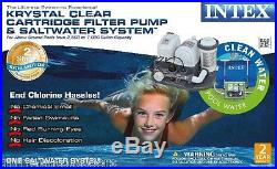 Intex 120V Krystal Clear Saltwater System Pool Chlorinator & Filter Pump 28673EG