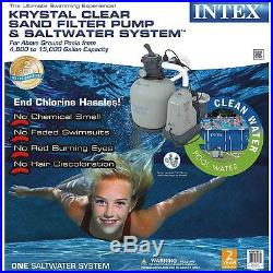 Intex 120v krystal clear sand filter pump saltwater for Intex pool 120 hoch