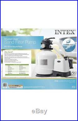 Intex 16 inch, 3000 Gph Krystal Clear Sand Filter Pump, Above Ground Pools 26651