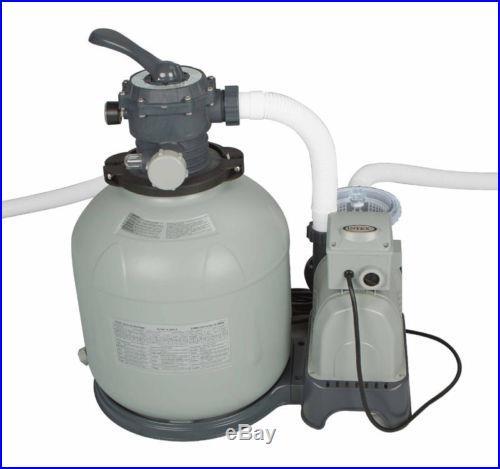 Intex 2450 GPH. 95 HP Swimming Pool 16 Krystal Clear Sand Filter Pump 28651EG