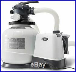 Intex 2650 GPH Krystal Clear Salt Water System inc CHLORINATOR Sand Filter Pump