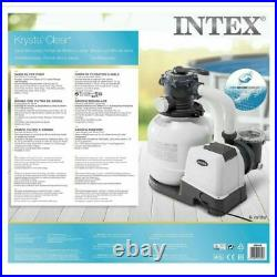Intex 26652 Krystal Clear 3200 GPH 12000 L/h Above Ground Pool Sand Filter Pump