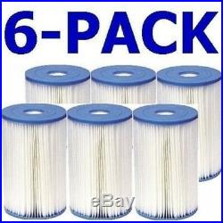 Intex 29005E Swimming Pool Filter Cartridge Type B 6 Pack