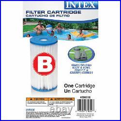 Intex 29005E Swimming Pool Type B Replacement Filter Pump Cartridge (6 Pack)