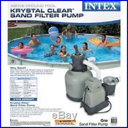Intex 2,150 GPH Above Ground Pool Krystal Clear Sand Filter Pump NR! NR