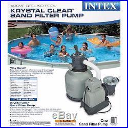 Intex 2,150 GPH Filter Pump Swimming Pool Summer Above Ground Krystal Clear Sand