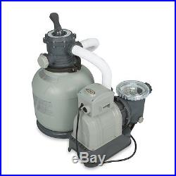Intex Above Ground Swimming Pool Sand Filter Pump System 2100 GPH Flow Rate