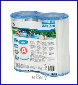 Intex Easy Set Pool Type A or C Filter Cartridges Twin Pack 29002E