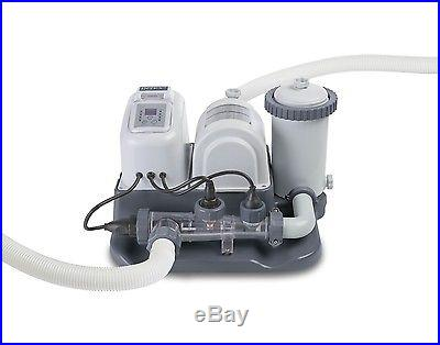 Intex Krystal Clear 1200 GPH Filter Pump Saltwater System Pool Chlorinator GFCI