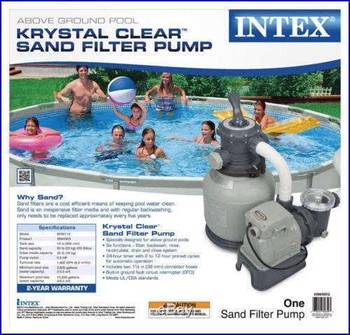 Intex Krystal Clear 12 Sand Filter Pump For Aboveground Swimming Pool 28645EG