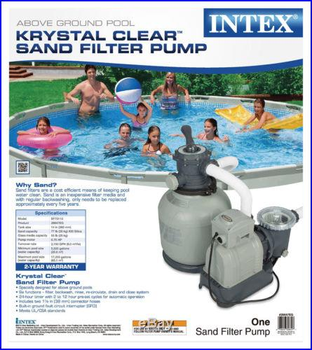 Intex Krystal Clear 2150 GPH 3/4 HP Swimming Pool 14 Sand Filter Pump 28647EG