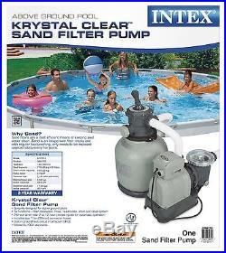 Intex Krystal Clear 2800 GPH Sand Filter Pump & 7000 Gal Saltwater Chlorinator