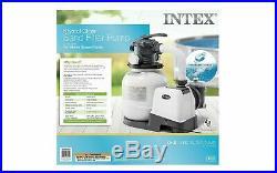 Intex Krystal Clear 3000GPH Sand Filter Pump Deluxe Pool Maintenance Kit 28651eg