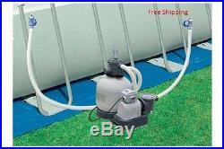 Intex Krystal Clear 3,000 GPH Above Ground Pool Sand Filter Pump 28651EG