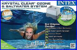 Intex Krystal Clear Ozone & Saltwater Swimming Pool System with GFCI 56607EG