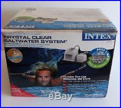 Intex Krystal Clear Saltwater System Above Ground Pool 28667EG 110-120V Open Box