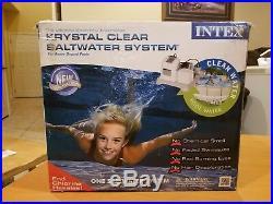 Intex Krystal Clear Saltwater System Above Ground Pool 54601EG /NIB 15,000 gal