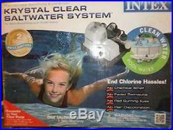 Intex Krystal Clear Saltwater System Above Ground Pool 7000 CG-28667 Salt Water